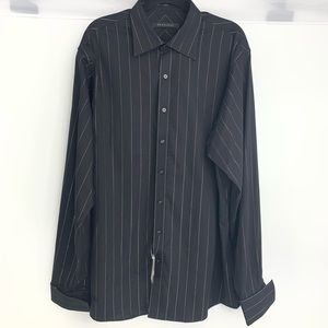 Sean John black striped long sleeve dress shirt